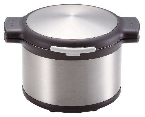 Pearl Ekokku vacuum thermal insulation cooking pot 3.2L Stainless Silver H-8098