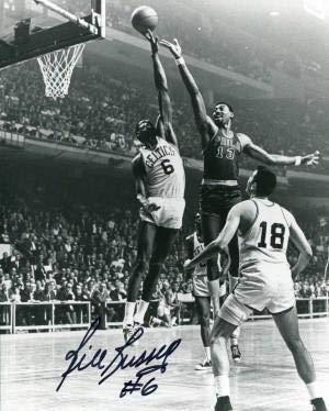 Bill Russell Signed Photo - Wilt Chamberlain 8x10 - Autographed NBA Photos