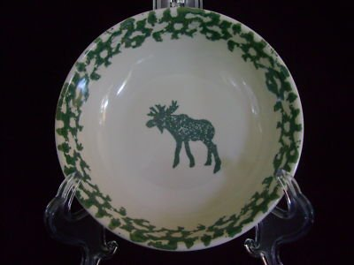Folk Craft Moose Tienshan Stoneware-Soup-Cereal Bowl mx_110711798070