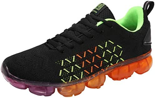 74424f0243e88 Gradient Color Air Cushion Sole Mesh Candy Lace-Up Flat Sneakers New ...