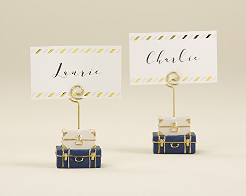 - Kate Aspen, Suitcase Place Card Holder, Wedding/Party Decoration (Set of 6)
