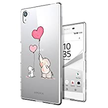 c0426 - Cool Fun Trendy cute kwaii valentines day heart love quote flowers elephants Design Sony Xperia Z5 Premium Fashion Trend CASE Gel Rubber Silicone All Edges Protection Case Cover
