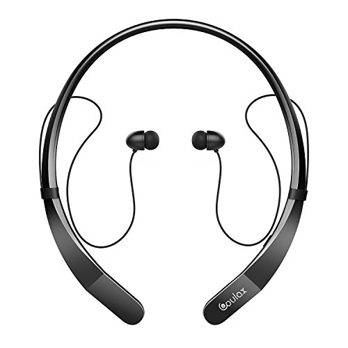 save 25 coulax bluetooth headphones cx07 wireless neckband bluetooth headset stereo in ear. Black Bedroom Furniture Sets. Home Design Ideas