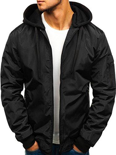 Jacket Men's Ribbed Black Zip Sport Casual Transitional Bomber Mix 4D4 BOLF rz02 qAEaUa