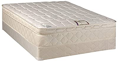 """Spring Solution Long Lasting 10"""" Pillowtop Fully Assembled Orthopedic Back Support Twin Mattress and Box Spring,Deluxe Collection from Spring Solution"""