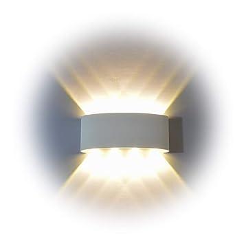 Wandleuchte LED Innen, PHOEWON 8W Modern LED Licht Wandlampe Aluminium  Leuchten Wandlicht Oben Unten Lampen