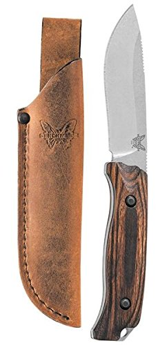 (Benchmade - Saddle Mountain Skinner 15001-2 Knife, Drop-Point, Stabilized Wood Handle)
