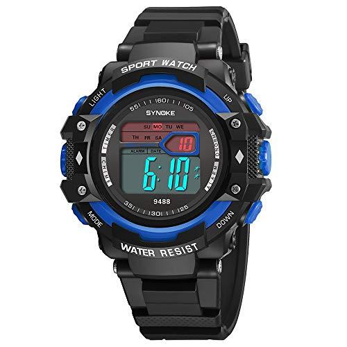 iNoDoZ Digital Unisex Sport Watch Multi-Function 30M Waterproof LED Double Action Watch