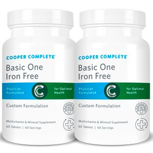 Day 120 Supply (Cooper Complete - Basic One Iron Free - 2 Bottles (120 Day Supply))