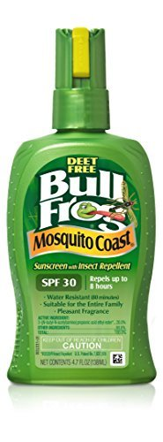 BullFrog Mosquito Coast Sunscreen with Insect Repellent Spray SPF 30 4.7 OZ - Buy Packs and SAVE (Pack of 2) (Bullfrog Sunscreen Bug Spray)