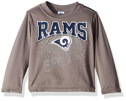 Logo Nfl Long Sleeve T-shirt - NFL Los Angeles Rams Male Long sleeve Team Logo Tee, Gray, 12 Months