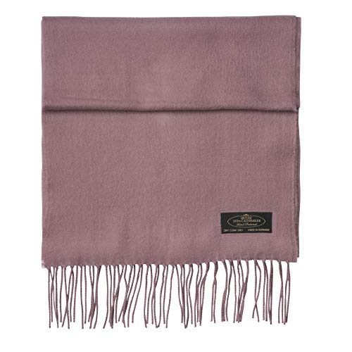 (100% Cashmere Scarf Super Soft For Men And Women Warm Cozy Scarves Multiple Colors FHC Enterprize (Mauve))