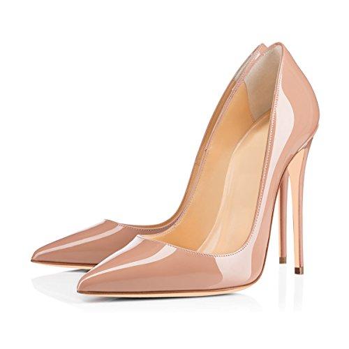 nude de tacón las Zapatillas y el mujeres onlymaker punta Color en de de alto talón puntera de Zapatos de alto tacón con Zapatos alto de tacón corte tacón pdwOqSd