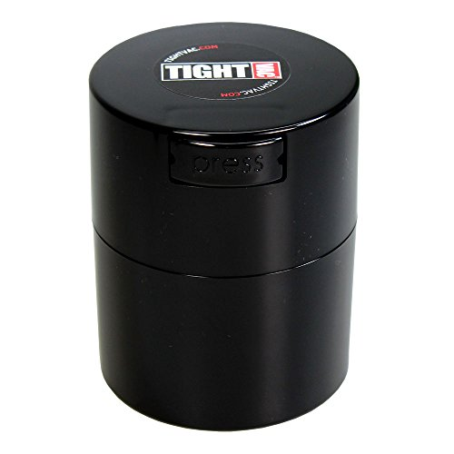High Volume Coffee System (Tightvac - 1/2 oz to 3 ounce Airtight Multi-Use Vacuum Seal Portable Storage Container for Dry Goods, Food, and Herbs - Black)