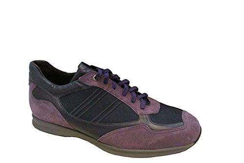 Santoni Mens Deep Viola Sport Sneaker Taglia 12,5 (d) Larghezza Media