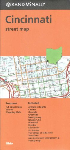 Cincinnati Street Map- OH Rand McNally