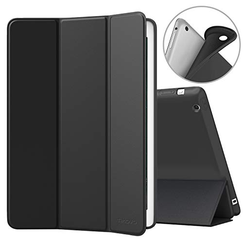 TiMOVO Cover Compatible for iPad 2/3/4 Case, Smart Case Slim Soft TPU Back Cover Protector with Auto Wake/Sleep Function, Magnetic Cover Compatible Fit iPad 2/iPad 3/iPad 4th Gen - Black