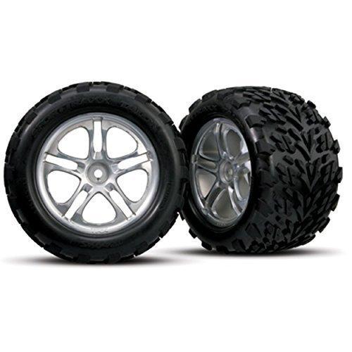 Traxxas 5174 Talon Tires on Chrome Split Spoke Wheels, Revo/Maxx, Model: TRA5174, Toys & Play ()