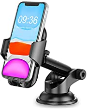 Car Phone Holder, TEUMI Phone Mount for Car Dashboard / Windshield, 360° Rotatable Extendable Arm Car Phone Cradle for iPhone 11 Pro Max/Xs Max/XS/XR/X/8 plus/8/7/7 Plus/6, Samsung Galaxy S10 Plus/S10/S10e//Note 10/9/8