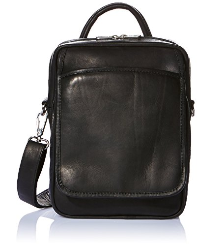Piel Leather Traveler's Carry-All Bag, Black, One Size