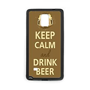 Onshop Custom Keep Calm and Drink Beer Mugs Phone Case Laser Technology for Samsung Galaxy Note 4