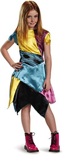 Girls Christmas Costumes (Sally Child Classic Nightmare Before Christmas Disney Costume, Medium/7-8)