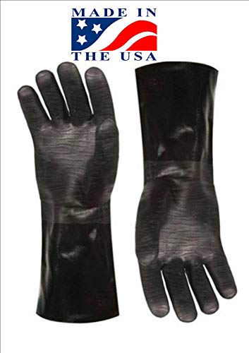 Insulated waterproof / oil and heat resistant BBQ, smoker, grill, and cooking gloves. Use for barbecue & grilling -1 pair Size 10/XL (13 Inch)