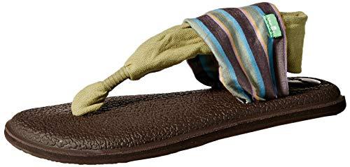 - Sanuk Women's Yoga Sling 2 Prints Flat Sandal,sand harbor olive,6 M US