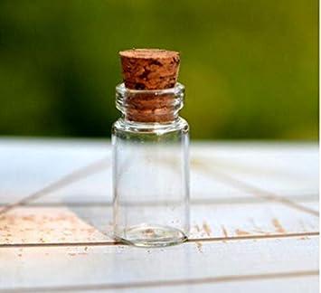 Ari_Mao Pequeñas Botellas de Vidrio de Corcho Decoradas Que ...