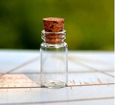 Abenily Objetos de Vida pequeños y prácticos Pequeñas Botellas de Vidrio de Corcho Decoradas Que Desean Paquete de Botellas de 5 Piezas: Amazon.es: Hogar