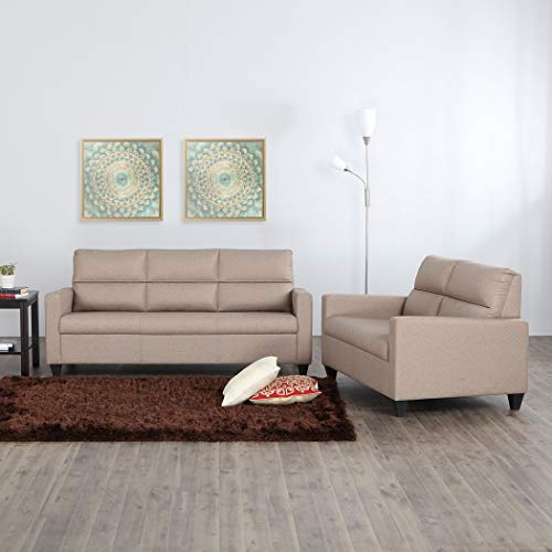 Home Centre Helios Clary 3+2 Fabric Sofa Set   Beige
