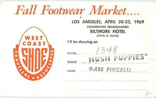 Vintage Advertising Postcard: Fall Footwear Market Los Angeles, California