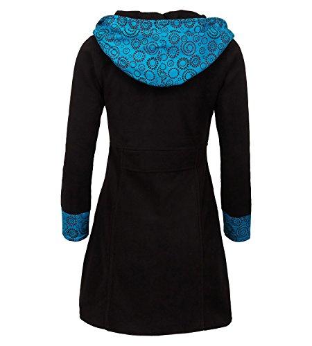 Chaqueta Negro Kunst Mujer Trenca azul Para Und Magie qn6WzF