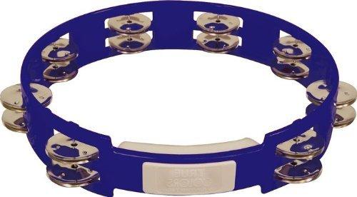 RhythmTech TC4040 10-Inch True Colors Tambourine, Cobalt Blue