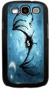 SamsungCase Incy Wincy Spider Personality Silicon Rubber Luxury Cover Case For Samsung I9300 GALAXY S3 (Black & White) By ALL MY DREAMS!!