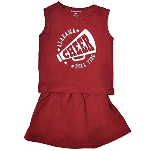 NCAA Alabama Crimson Tide Toddler Girl Cheer Set, 5/6 Toddler, Cardinal -