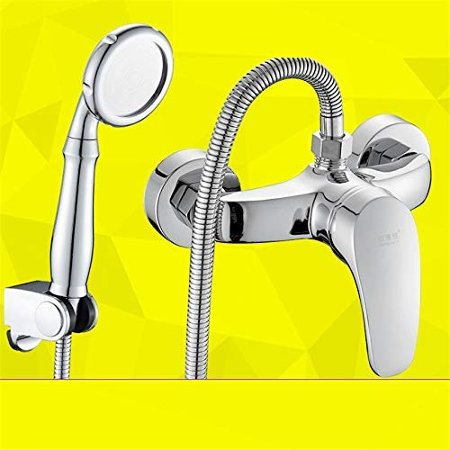 Oudan Taps Copper Shower Faucet Bathroom Hot And Cold Water Faucet Shower Mixing Valve Concealed D (color   -, Size   -)