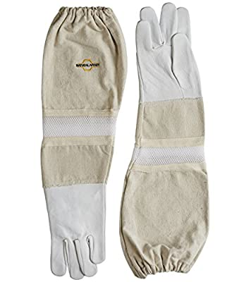 Beekeeping Gloves - Sting Proof Cuffs - Extra Long Thick Sleeves