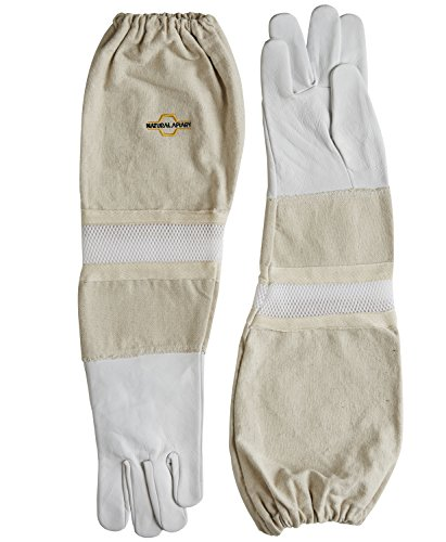 Goatskin- Beekeeping Gloves - Ventilated Sleeves