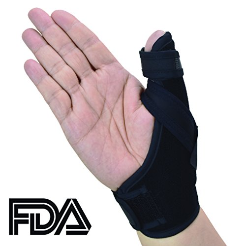 Thumb Spica Splint- Thumb Brace for Arthritis or Soft Tissue Injuries, FDA Approved, Lightweight and Breathable, Stabilizing and not Restrictive, a U.S. Solid Product (Small/Medium)