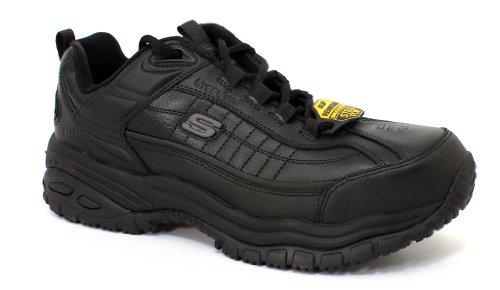 Skechers for Work Men's Soft Stride Lace Up,Black,12 M (Best Steel Toe Work Shoes For Plantar Fasciitis)