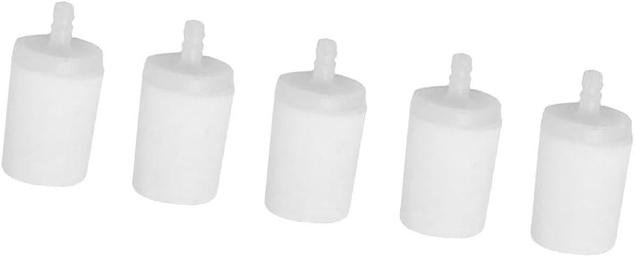 5pcs Filtre à Essence en Plastique Blanche pour  36 40 41 42 45 50