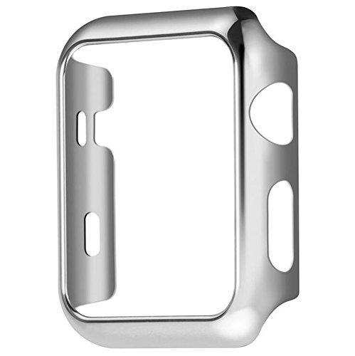 Apple Watch Series 2 Case, TitanFan Electroplate PC Hard Protective Case for Apple Watch Series 2 All Models 2016 (Silver, 38MM)