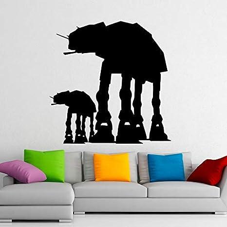 57 * 57cm Star Wars pegatinas de vinilo andadores at - at Wall ...