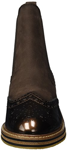 Marco Botas Marrón Tozzi comb Premio 25812 mocca Para Ant Chelsea Mujer rqRr76
