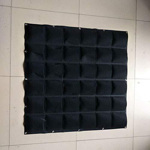 MOPOLIS 36 Pockets Garden Felt Pot Plant Bag Pouch Root Container Veg Growing Tool Use (Color - Black)