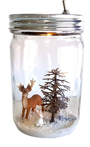 Night Lights for Kids Marmelada Lights Baby Night Light Story in a Jar Junior Series, Forest Deer, Christmas Edition LED Bedside Nursery / Children Night Lamp Bookshelf or Tabletop, battery operated by Marmelada Lights