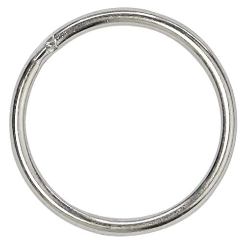 Key Rings Key Chain Metal Split Ring Bulk (Round Edged 1 Inch Diameter) 100pcs, for Home Car Keys Organization, Arts & Crafts, Lanyards, Lead Free Nickel Plated Silver