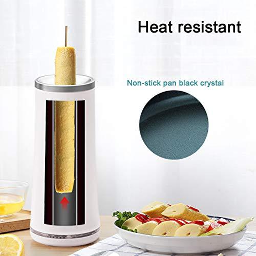 Frühlingsrolle Maker Frühlingsrolle Maschine Vertikale Ei Omelett Haushalt Doppelzylinder Pfannen Automatische Pfannkuchenofen Vertikale Rolle Antihaft Home Cooker DIY MiMiey (Weiß)