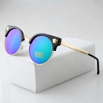 lxkmtyj seppia Big Box anti-luster film occhiali da sole/Occhiali da sole occhiali moderne grezza driver, el Acqua Verde Argento
